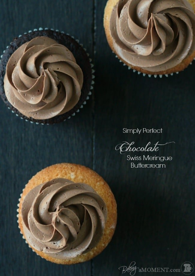Simply Perfect Chocolate Swiss Meringue Buttercream