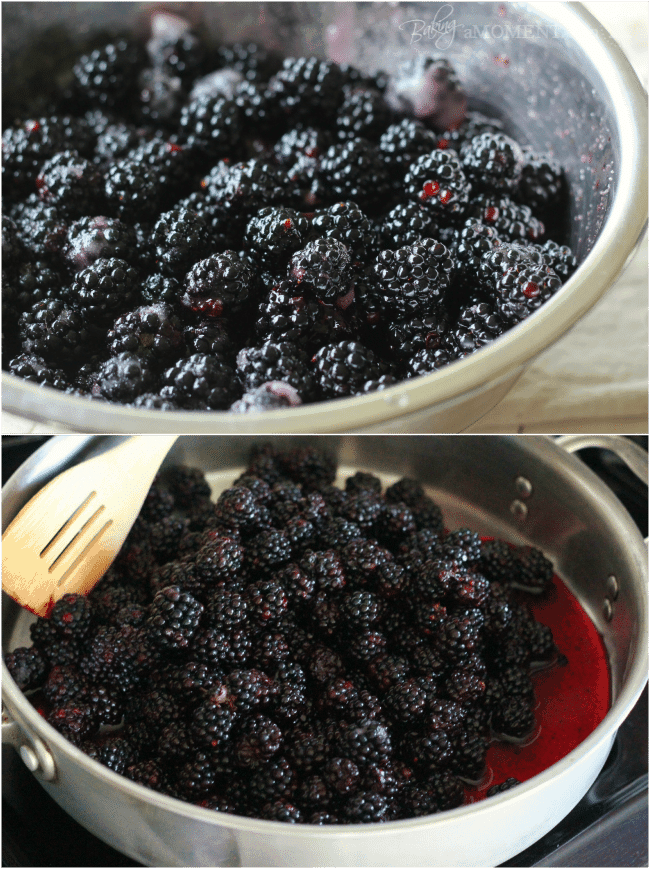Macerated Blackberries