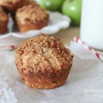 Apple Muffins with Nut Crumble Topping by Jen of Yummy Healthy Easy