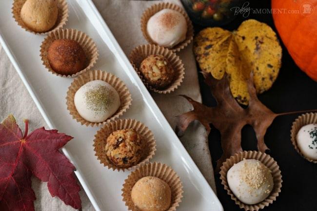 Pumpkin Cheesecake Truffles (or Pops)