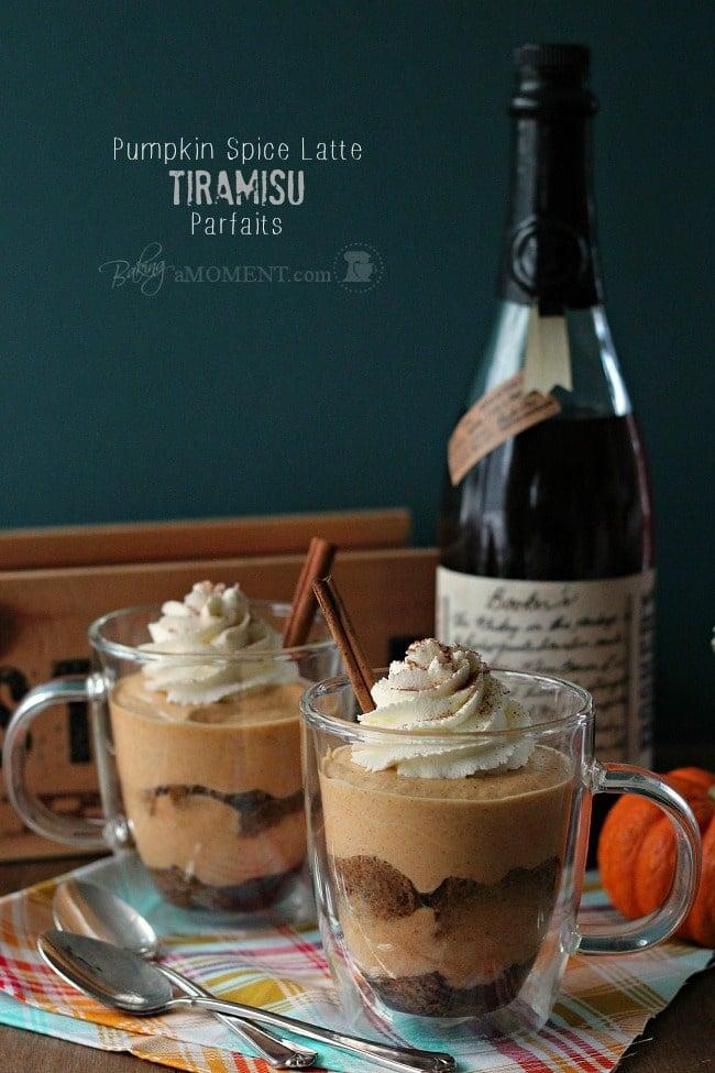 Pumpkin Spice Latte Tiramisu Parfaits | Baking a Moment