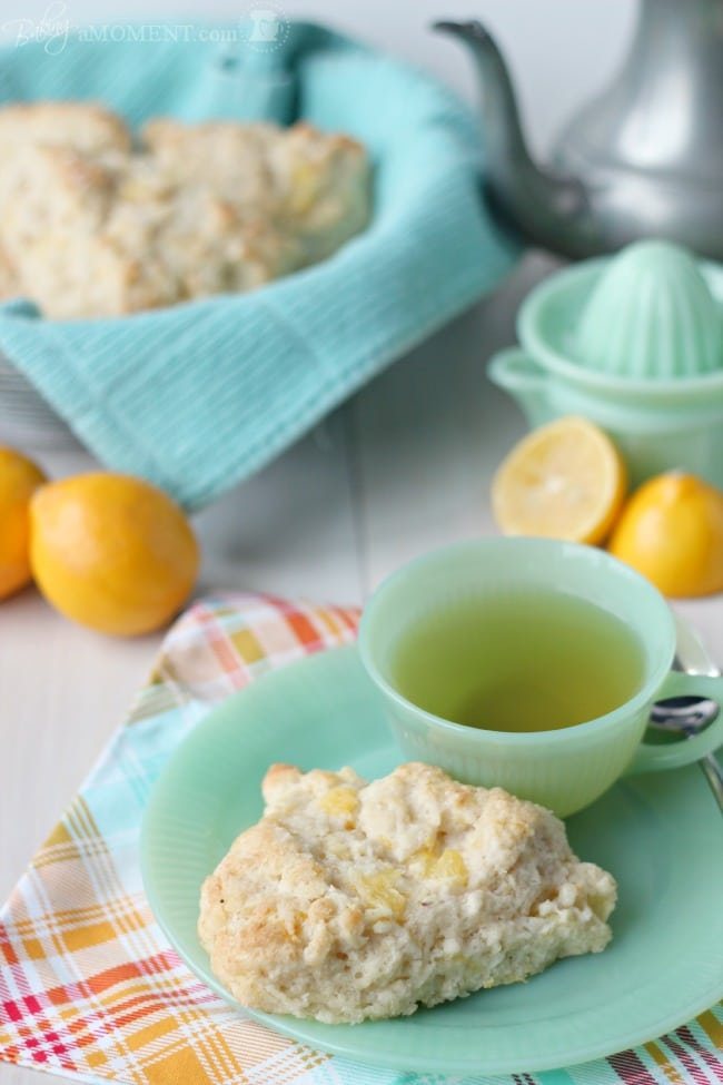 Meyer Lemon Mascarpone Scones | Baking a Moment