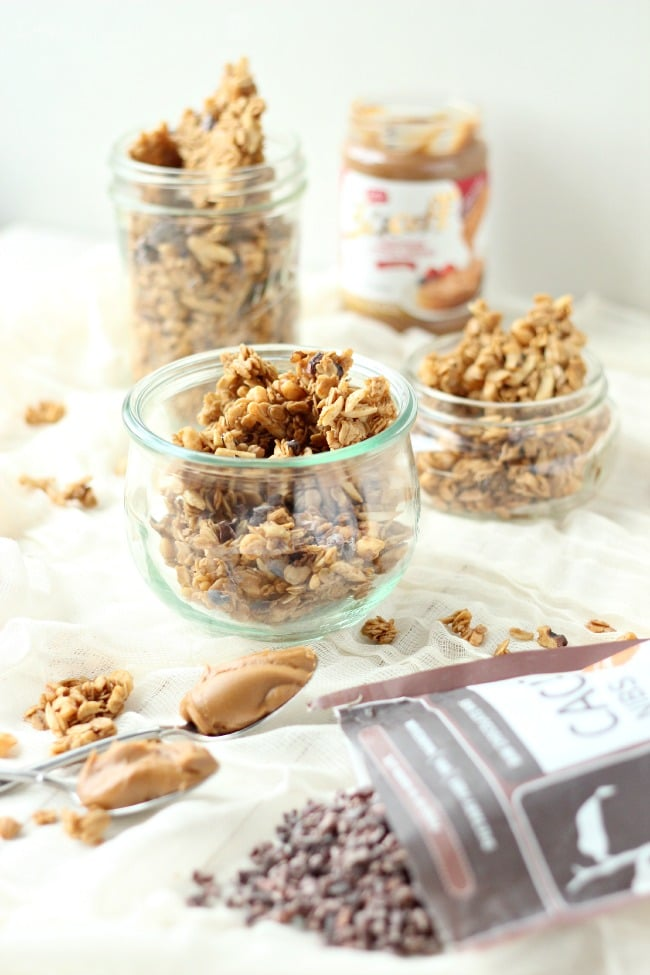 Cookie Butter Granola Clusters with Cacao Nibs | Baking a Moment