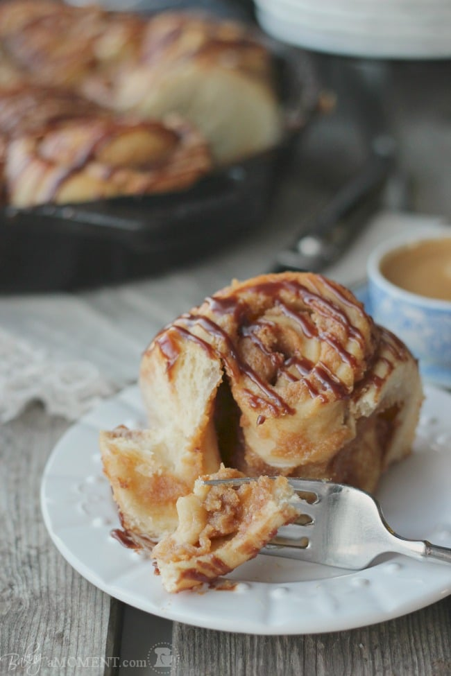 Peanut Butter Sweet Rolls with Chocolate Glaze