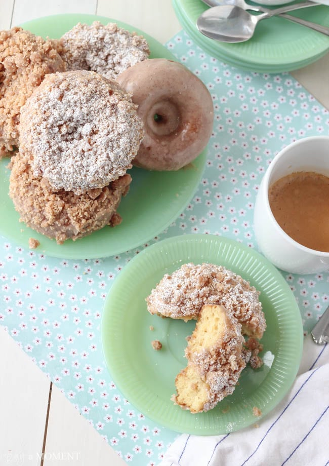 Homemade Crumb Donuts | Baking a Moment