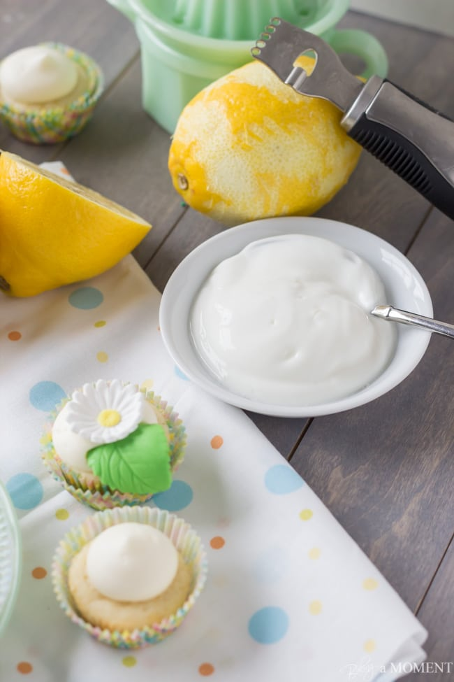 Lemon Yogurt Cupcakes with Cream Cheese Frosting   Baking a Moment