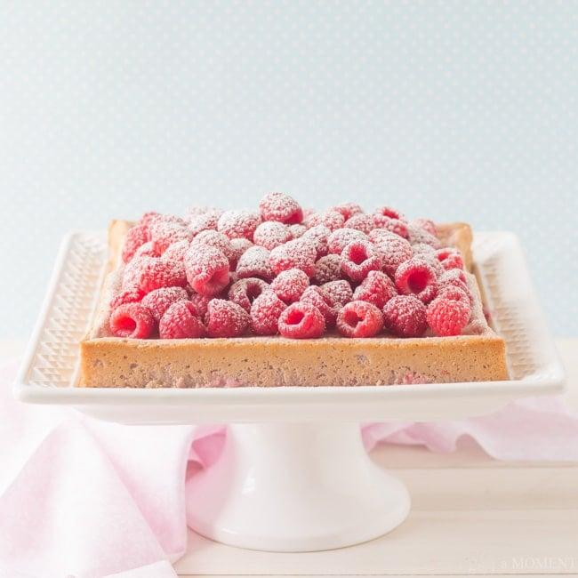 Raspberry Magic Custard Cake   Baking a Moment