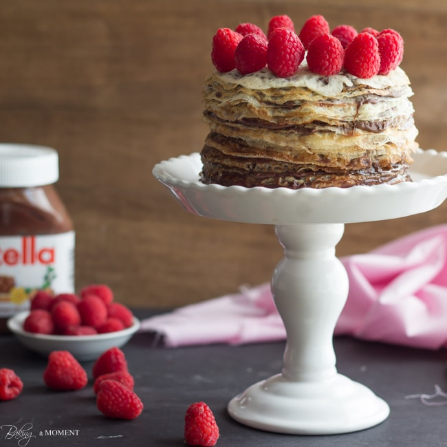 Nutella Crepe Cake | Baking a Moment
