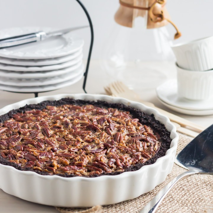 Honey-Pecan Tart With Chocolate Glaze Recipe — Dishmaps