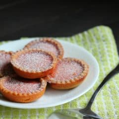 Blood Orange Tarts with Biscoff Cookie Crust