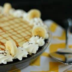 Banana Cream Pie with Coffee Caramel