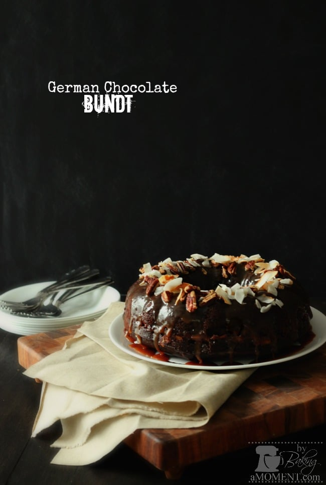 German Chocolate Bundt by BakingAMoment.com