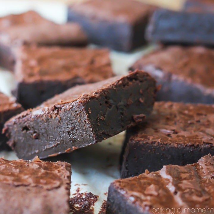 Close-up image of brownies made from scratch.