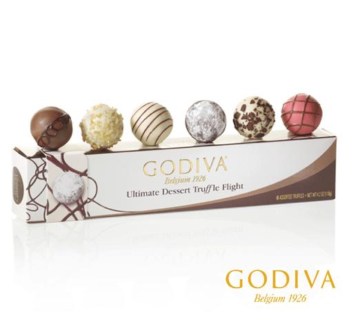 Godiva Chocolate Truffle Flight