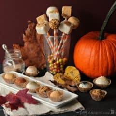 Pumpkin Cheesecake Truffle Pops | Baking a Moment