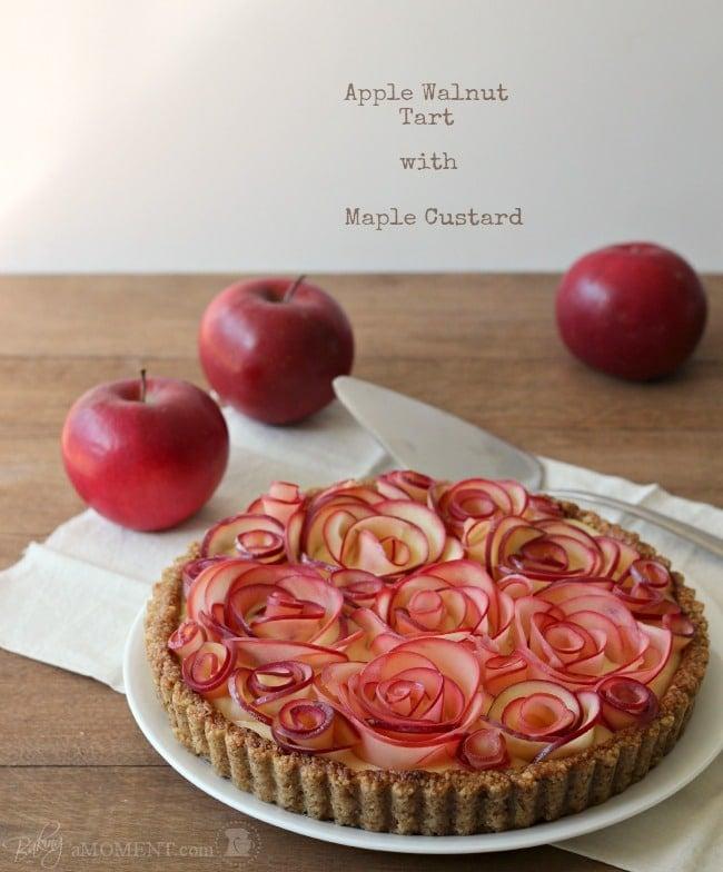 苹果与枫奶油核桃挞上升|烤一下