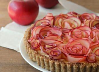 Apple Walnut Rose Tart with Maple Custard | Baking a Moment