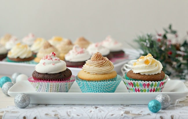 Festive Holiday Cupcake Selection | Baking a Moment