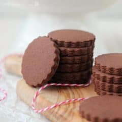 Chocolate Sugar Cookies | Baking a Moment
