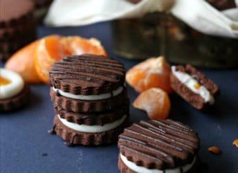 Chocolate Orange Sandwich Cookies | Baking a Moment