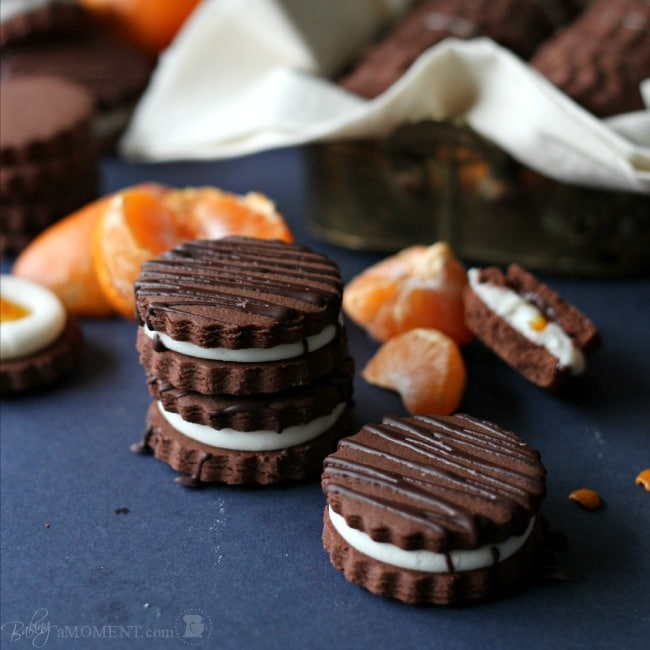 Chocolate Orange Sandwich Cookies | Baking a Moment