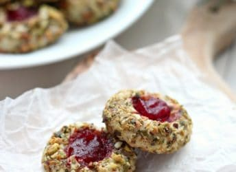 Cranberry Pistachio Cream Cheese Thumbprint Cookies | Baking a Moment