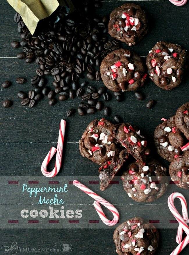 Peppermint Mocha Cookies | Baking a Moment