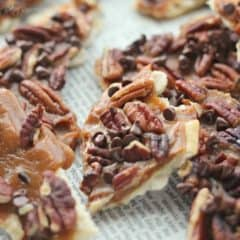 Bourbon Maple Pecan Christmas Crack | Baking a Moment