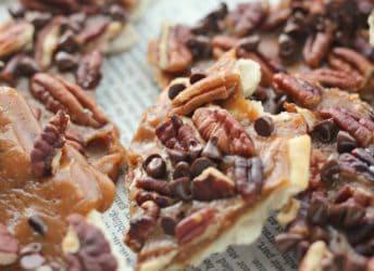 Bourbon Maple Pecan Christmas Crack | Baking a Moment