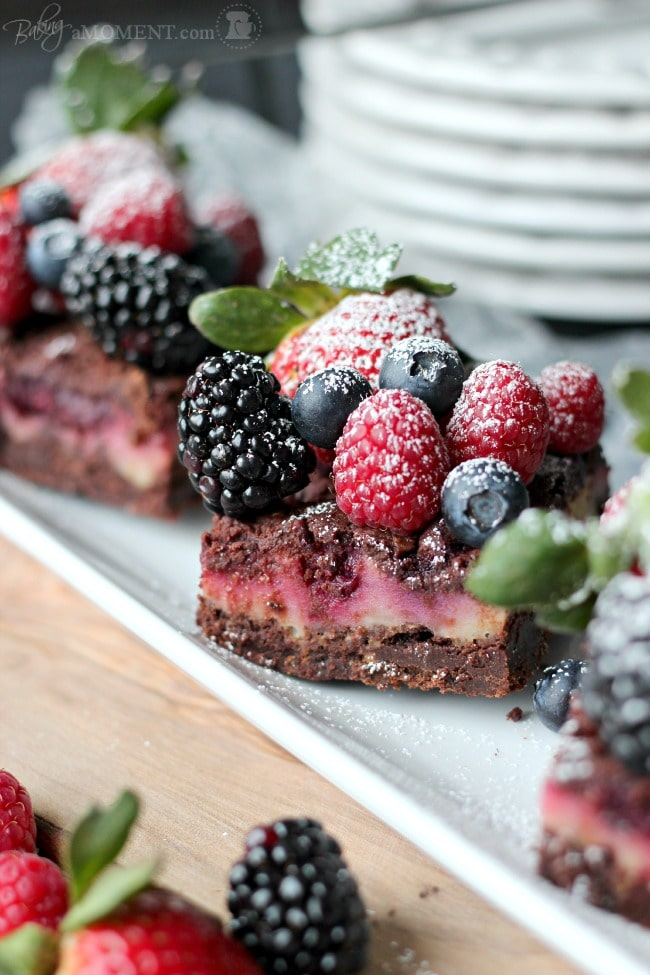 Berry Chocolate Streusel Bars | Baking a Moment
