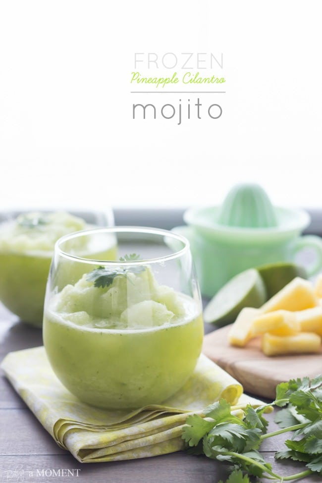 Frozen Pineapple Cilantro Mojito | Baking a Moment