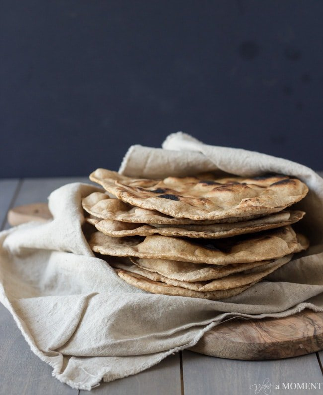 Homemade Whole Wheat Naan | Baking a Moment