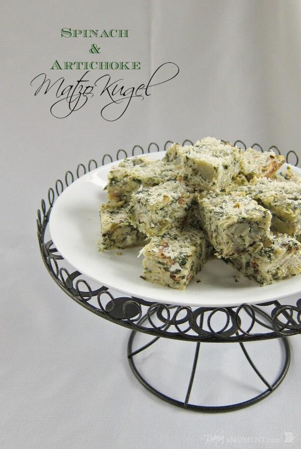 Spinach Artichoke Kugel | Baking a Moment