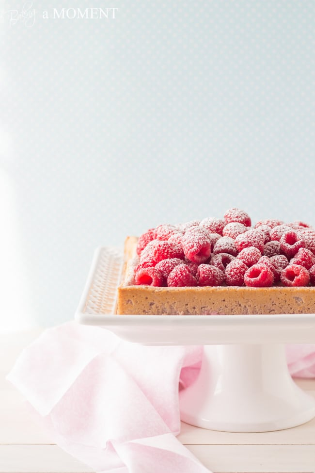 Raspberry Magic Custard Cake | Baking a Moment