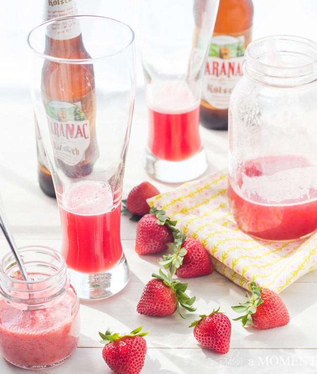 Strawberry Rhubarb Shandy   Baking a Moment