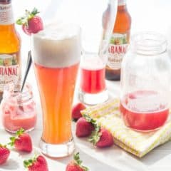 Strawberry Rhubarb Shandy | Baking a Moment
