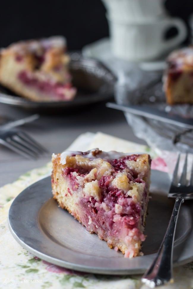 Raspberry Lemon Sweet Roll Cake with Buttermilk Glaze   Baking a Moment