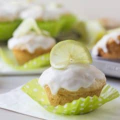 Coconut Lime Glazed Muffins | Baking a Moment