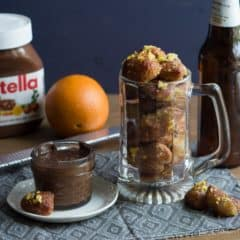 Citrus-y Beer Pretzel Bites with Nutella Dip | Baking a Moment