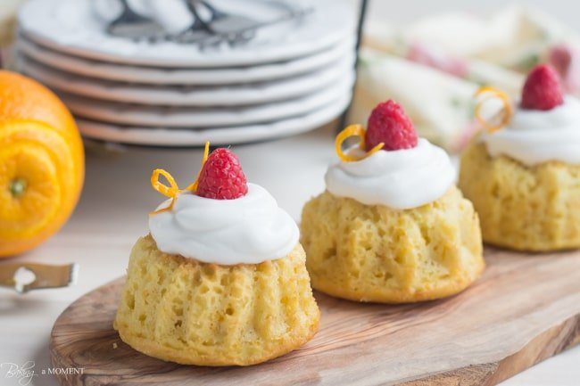 Orange Raspberry Mini Bundt Cakes | Baking a Moment
