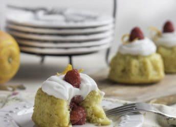 Orange Raspberry Mini Bundt Cakes | Baking a Moment
