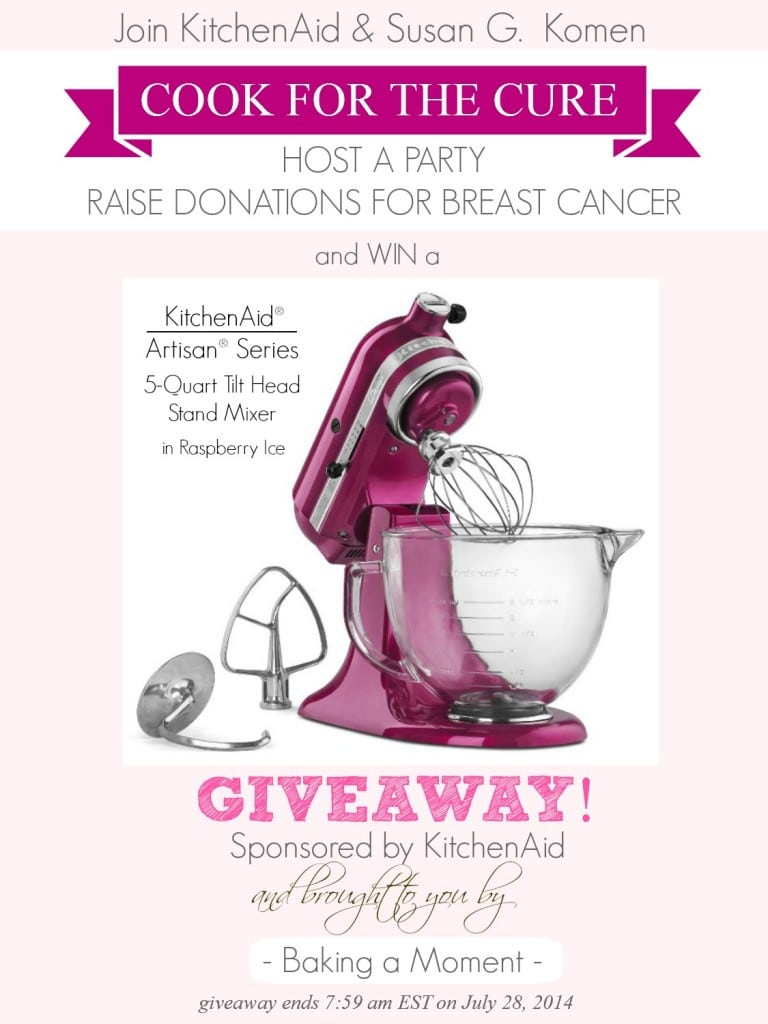 #CookfortheCure Stand Mixer Giveaway | Baking a Moment