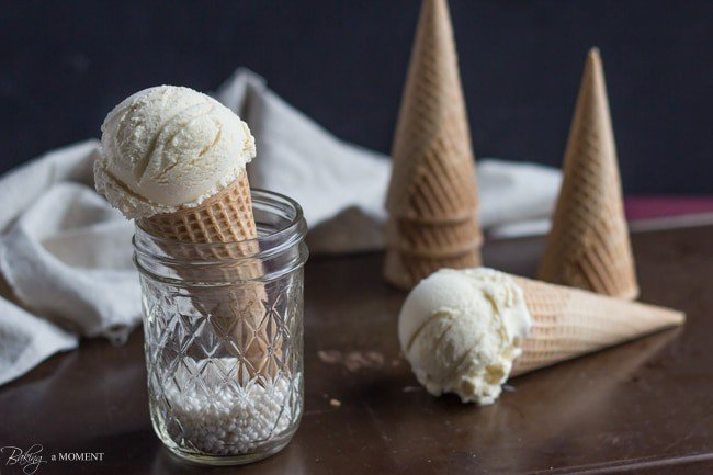 Simply Perfect Vanilla Ice Cream | Baking a Moment