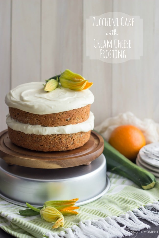 Zucchini Cake with Cream Cheese Frosting | Baking a Moment