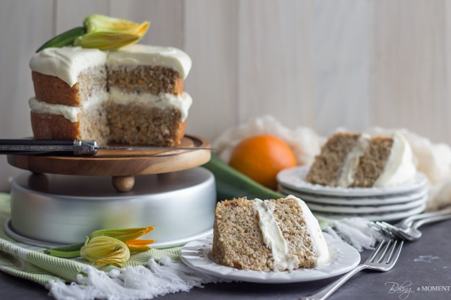 Zucchini Cake with Cream Cheese Frosting   Baking a Moment