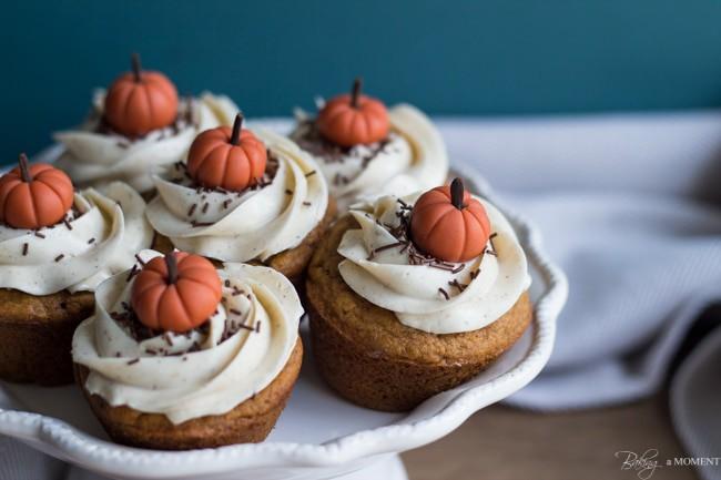 Pumpkin Chai Cupcakes | Baking a Moment