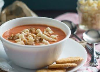 Easy Blender Tomato Soup | Baking a Moment