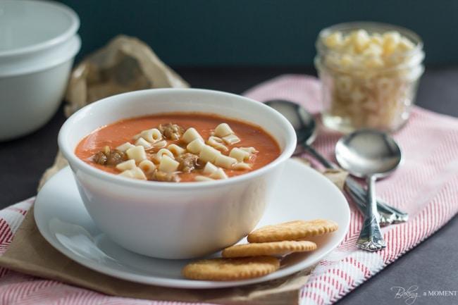 Easy, Make Ahead Blender Tomato Soup | Baking a Moment