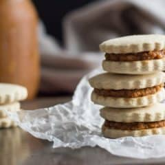 Like Pumpkin Pie in Cookie Form! Pumpkin Alfajores, GF, DF, & No Refined Sugar