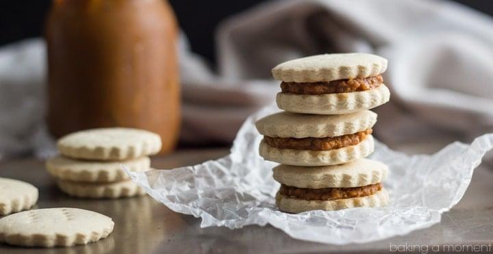 Like Pumpkin Pie in Cookie Form! Pumpkin Alfajores, GF, DF, & No Refined Sugar